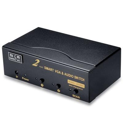 VGA切换器 全智能带音频遥控共享器 视频切换器2进1出 VS-5021
