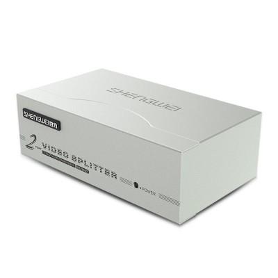 VGA分配器 2口配线 1进2出高清视频共享电脑电视分频器VS-2502