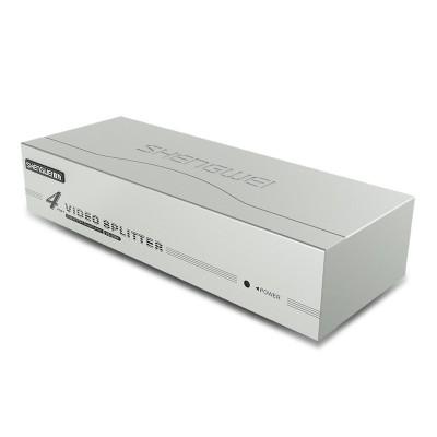 VGA分配器 4口配线 1进4出高清视频共享电脑电视分频器VS-2504
