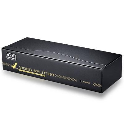 高清VGA分配器 铁壳4口配线 500MHZ电视电脑视频一分四分频器VS-5004