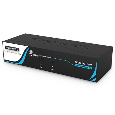 高清DVI KVM切换器 自动USB 2进1出电脑音视频切换器1080P KS-7021D