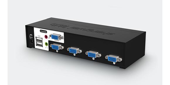 胜为音视频切换4口VGA KVM切换器