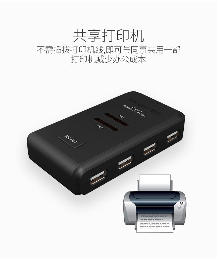 胜为2进4出USB共享切换器US-204----详情03
