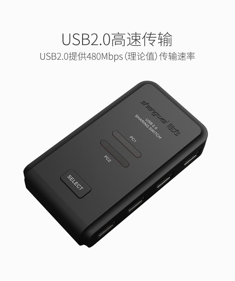 胜为2进4出USB共享切换器US-204----详情11