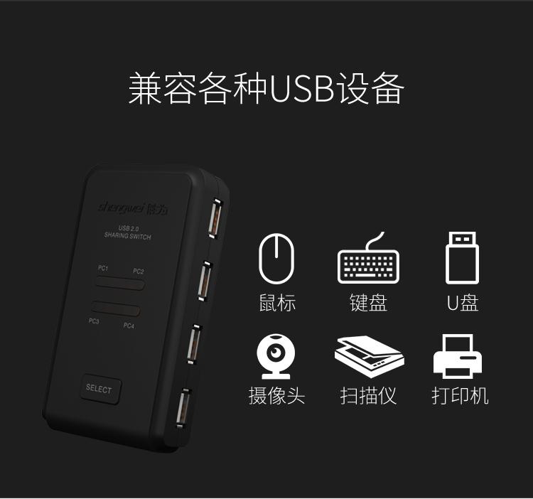 胜为4进4出USB共享切换器US-404----详情09