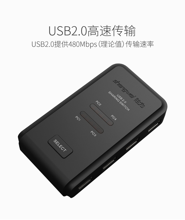 胜为4进4出USB共享切换器US-404----详情11