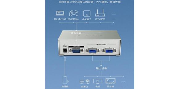 胜为一进二出VGA视频分配器VS-2502___连接产品介绍
