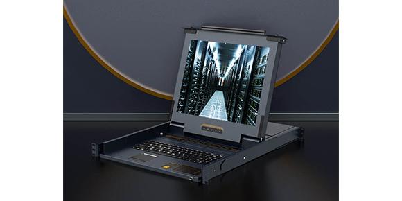 胜为带LCD屏网口KVM切换器