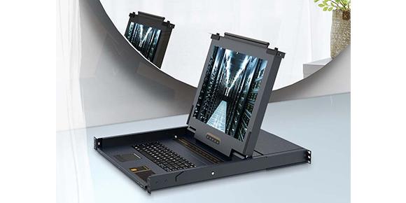 机架式带屏幕网口KVM切换器-胜为科技