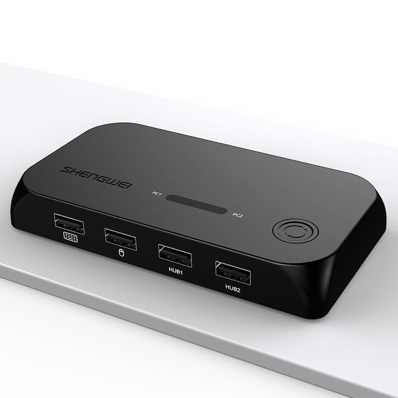 KVM切换器2口HDMI转换器带配线4K高清显示器接打印机键鼠共享KS-502H