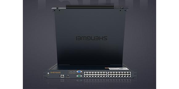 32口 网口LCD KVM一体机-胜为科技