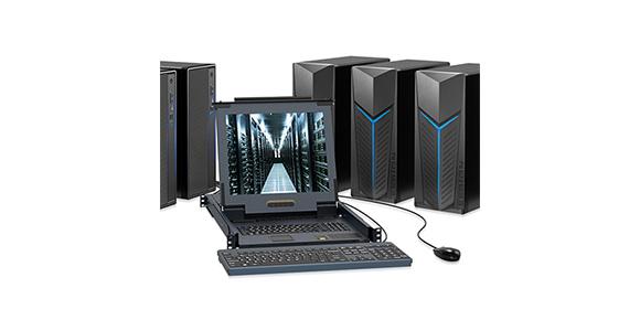 高清网口LCD KVM切换器-胜为科技