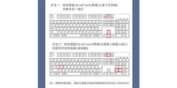 胜为新品2口VGA KVM切换器DVUS102G___热键切换方法