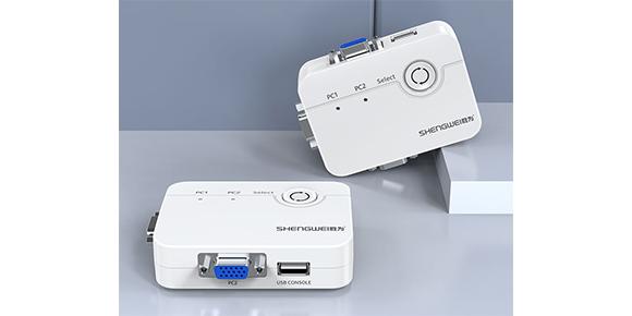 胜为桌面式二进一出USB KVM切换器KS-302A