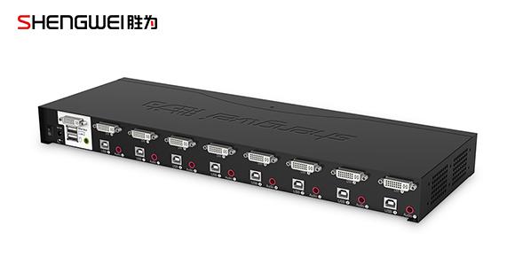 胜为高清8口DVI KVM切换器接口展示
