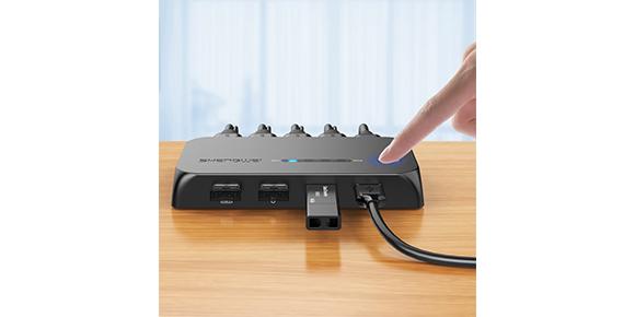 胜为四进一出自动HDMI KVM切换器KS-504H产品展示