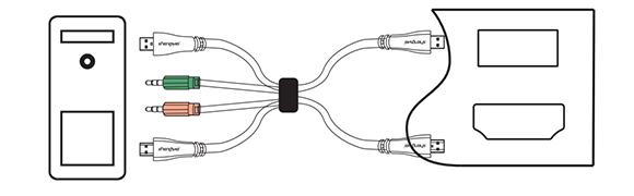 胜为HDMI KVM切换器安装步骤01
