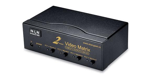 胜为二进二出VGA矩阵切换器VM-522