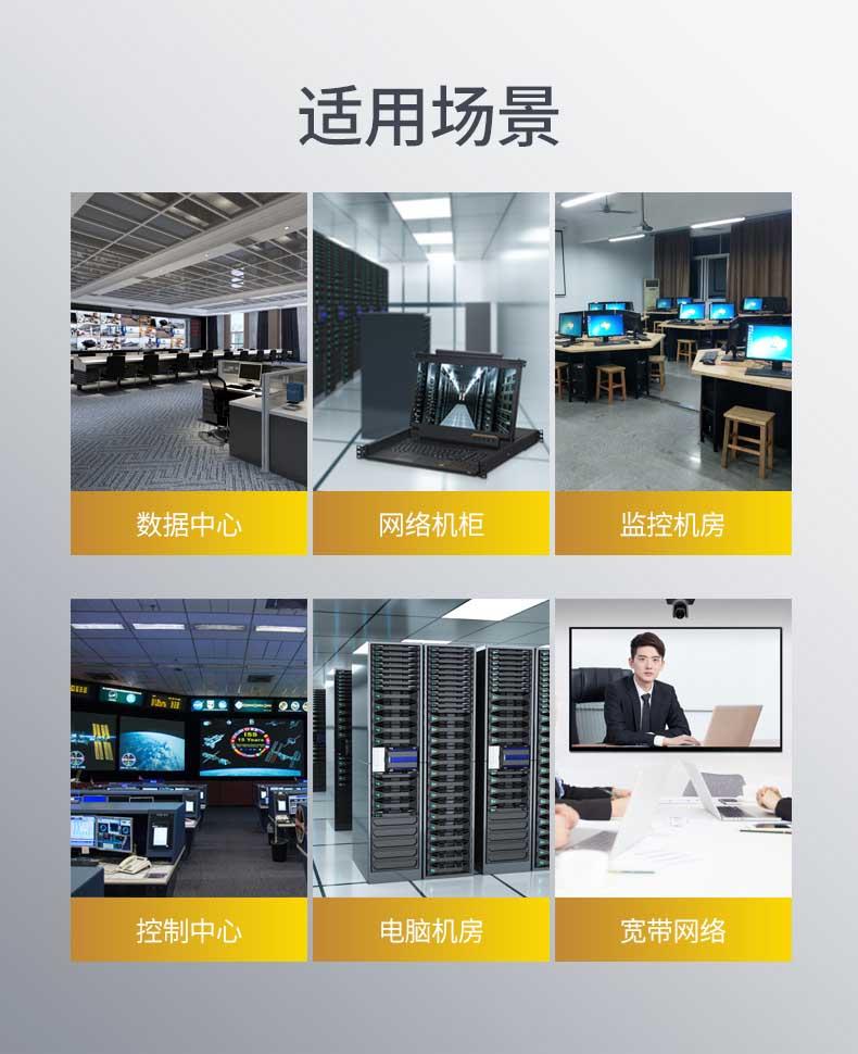 胜为高清宽屏短款LCD KVM切换器KS-2716L---13