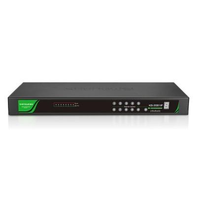 远程款8进1出 CAT5网络数字IP KVM切换器8口 机架式可级联 KS-2081IP
