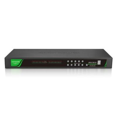 KVM切换器16口 数字IP远程CAT5网线机架式切换器 本地级联KS-2161D