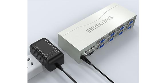 胜为八屏同显VGA视频共享器VS-2508___接口展示
