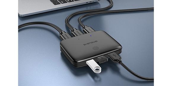 胜为2口HDMI KVM切换器KS-302H__连接展示