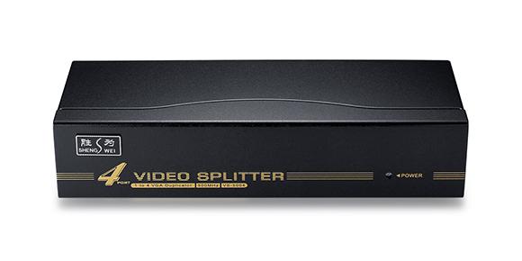 胜为一进四出VGA分配器VS-5004-产品外观展示