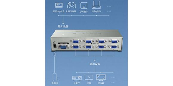 胜为8口VGA视频分配器VS-2508