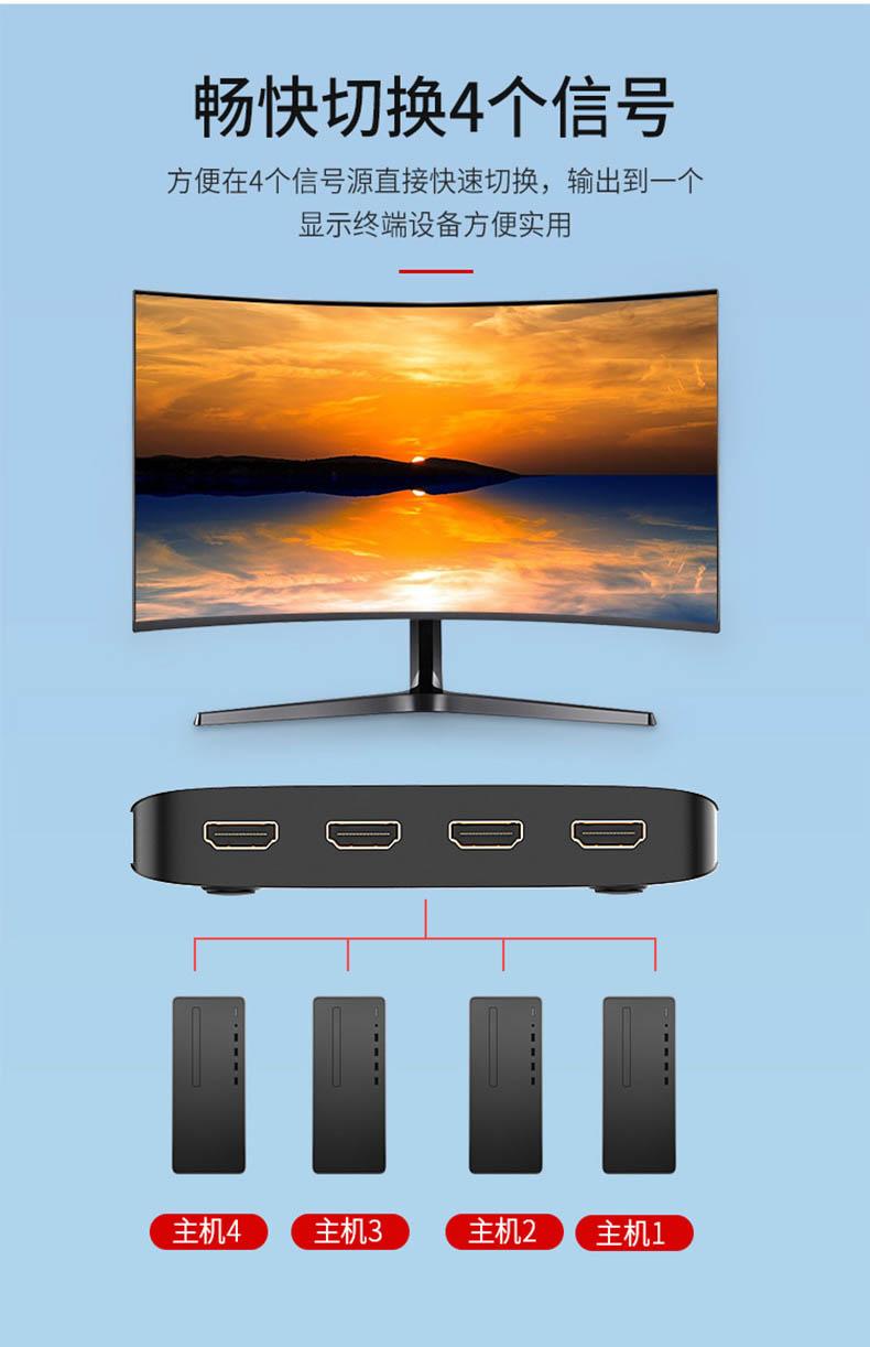 胜为4K高清4口HDMI KVM切换器__790_06