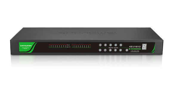 16口远程IP KVM切换器-胜为科技