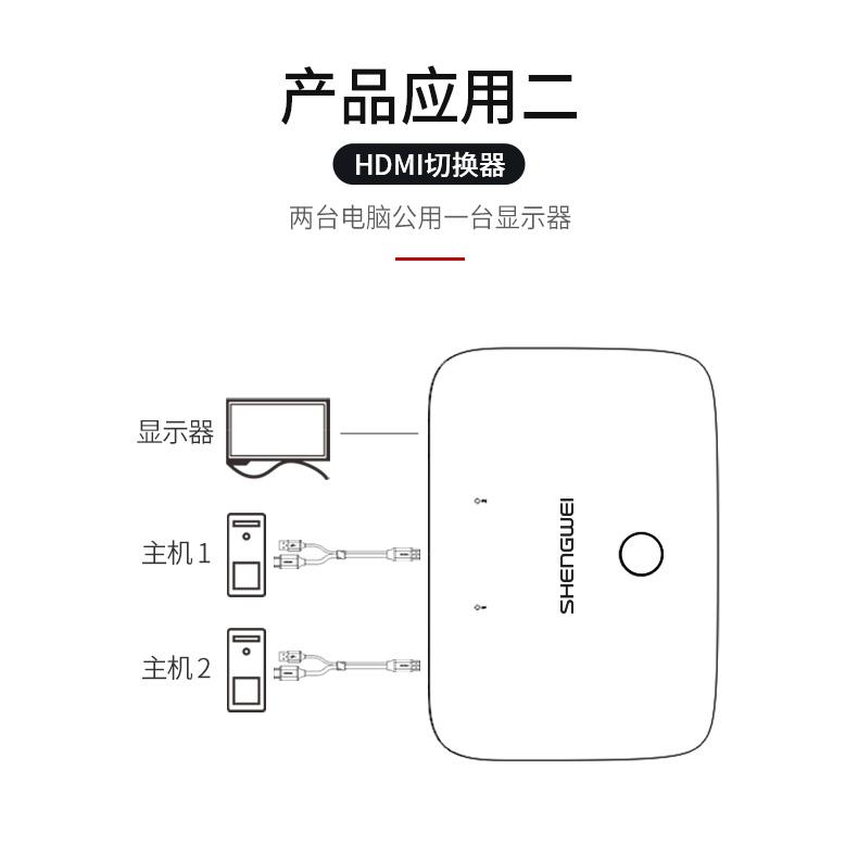 胜为4K高清HDMI KVM切换器2口KS-302H___790__05