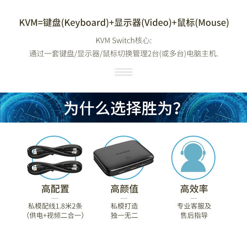 胜为4K高清HDMI KVM切换器2口KS-302H___790__03