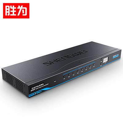 KVM切换器USB键鼠16进1出配线机架型带音频VGA多电脑切换KS-1161UA