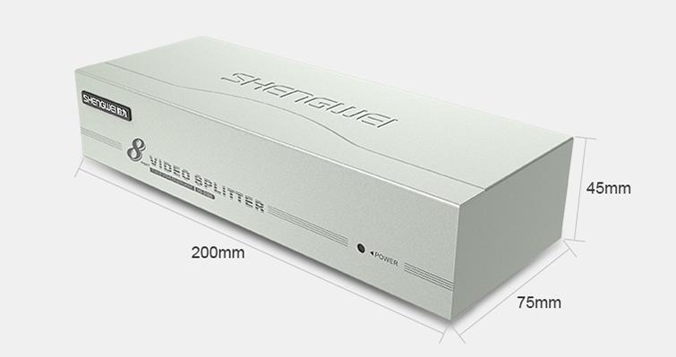 8口VGA视频分配器-胜为科技
