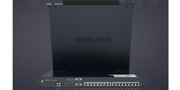 胜为16口LCD KVM切换器接口展示